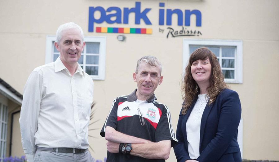 Employees outside Park Inn, Shannon Airport